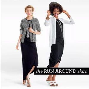 cAbi The Runaround Skirt Black Hi Low Maxi Sz S